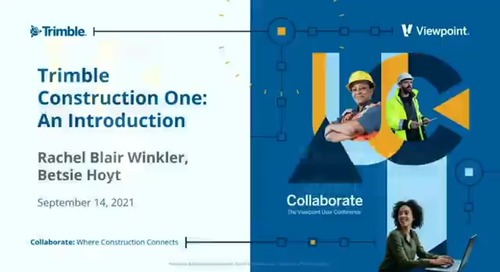Trimble Construction One - An Introduction