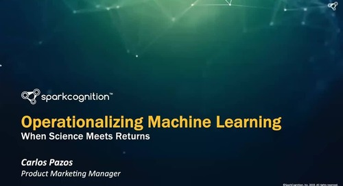 Webinar: Operationalizing Machine Learning: When Science Meets Returns