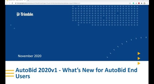 What's New in AutoBid 2020v1 for AutoBid End Users