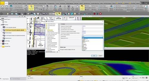 Trimble Business Center Version 5.50 - 3D Drive Feature