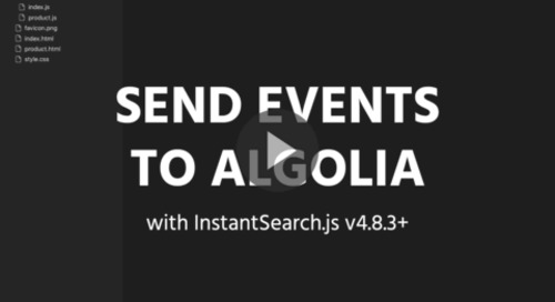 Send Insights API events with InstantSearch.js
