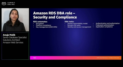 The changing role of the DBA: Moving to AWS managed database services