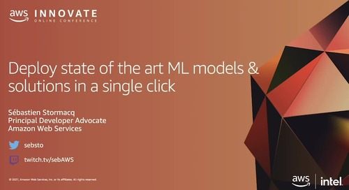 Deploy State of the Art ML Models and Solutions in a Single Click (Level 200)