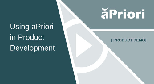 Using aPriori in Product Development