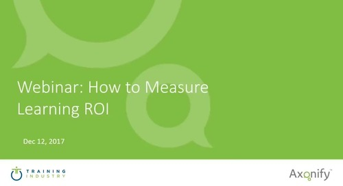 Webinar: How to Measure Learning ROI