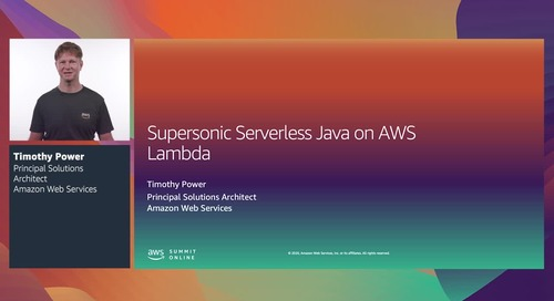 AWS Summit Online ASEAN 2020 | Supersonic serverless Java on AWS Lambda [Level 300]