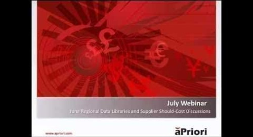 Regional Data Libraries and Supplier Should Cost Discussions