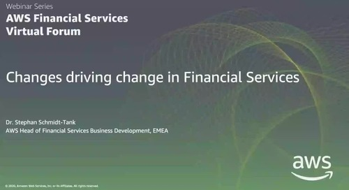 Keynote: Changes driving change in Financial Services