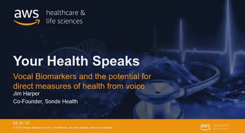 Your health speaks: vocal biomarkers and the potential for direct measures of health from voice