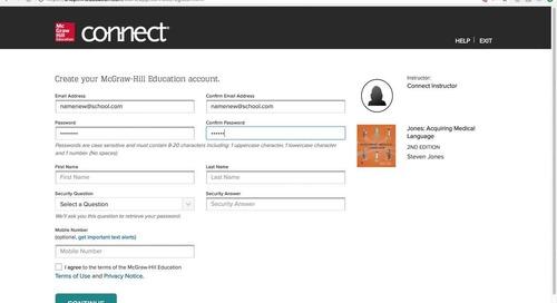 Connect - Student Registration