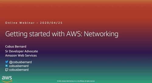 Getting Started on AWS Networking