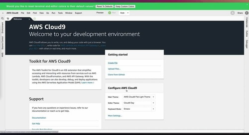 10 lessons learnt when migrating to AWS Cloud9 Demo 9