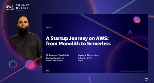A startup journey on AWS: from Monolith to Serverless [L300]
