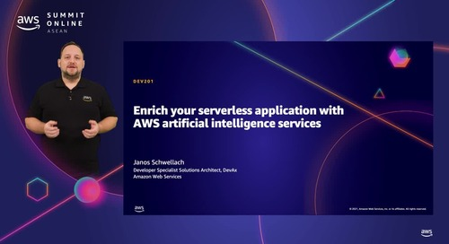 Enrich your serverless application with AWS artificial intelligence services [L200]