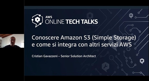 Conoscere Amazon Simple Storage (Amazon S3) e come si integra con altri servizi AWS