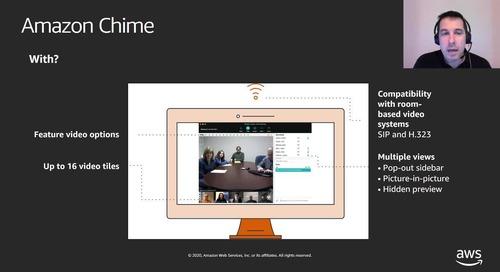 Cómo utilizar Amazon Chime para comunicarse y trabajar con equipos virtuales.