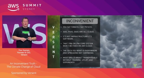 An Inconvenient Truth - The Climate Change of Cloud (Sponsored by Versent)