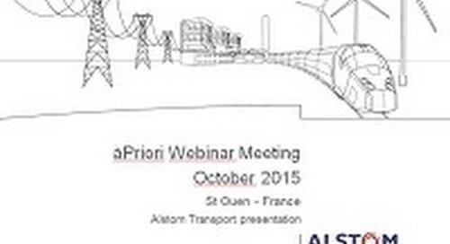 Alstom Transport Implements aPriori for Design-to-Cost