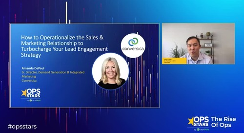 Session: How to Operationalize the Sales & Marketing Relationship to Turbocharge Your Lead Engagement Strategy
