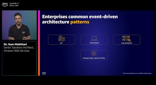 Making the event-driven enterprise a reality using AWS streaming data services
