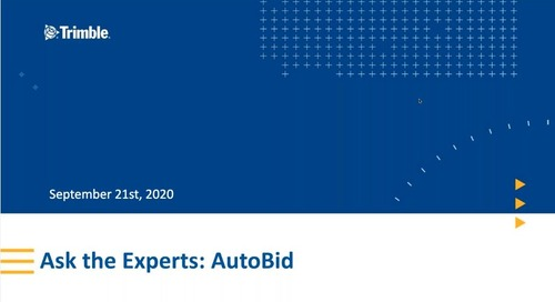 Ask the Experts: Troubleshooting Errors in AutoBid Mechanical