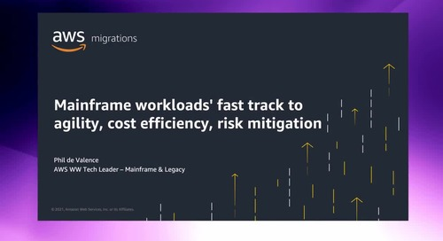 Mainframe workloads' fast track to cost efficiency, risk mitigation, and agility with AWS [Level 100]