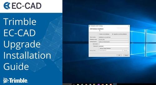 Trimble EC-CAD Upgrade Installation Guide
