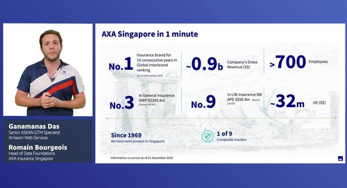 How AXA Singapore transformed into a data-driven enterprise through a modern data platform on AWS