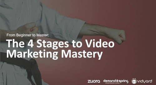 From Beginner to Master: The 4 Stages to Video Marketing Mastery