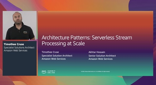 [RECAP - TH] Architecture patterns: Serverless stream processing at scale