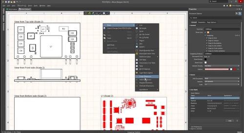 Draftsmanの容易なPCB製図機能