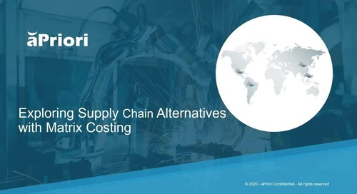 Exploring Supply Chain Alternatives Through Matrix Costing