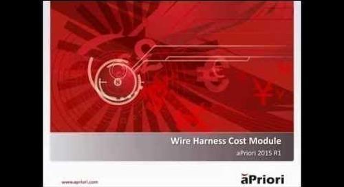 Introducing aPriori's Wire Harness Cost Module
