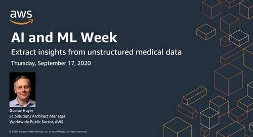 AIML Week: Extract insights from unstructured medical data with AI