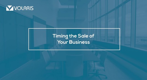 Timing of the Sale of Your Business