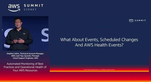Automated Monitoring of Best Practices and Operational Health of Your AWS Resources