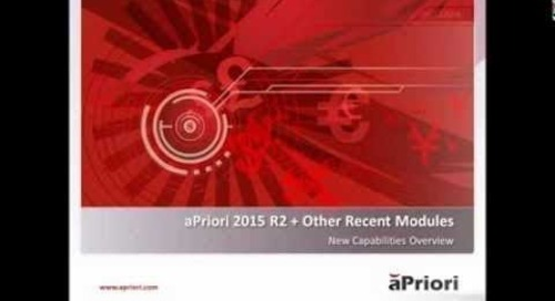 What's New in aPriori 2015 R2