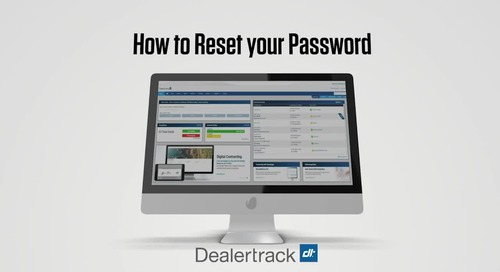 Reset Your Dealertrack Password or Login ID