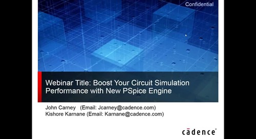 Webinar: Boost Your Circuit Simulation Performance