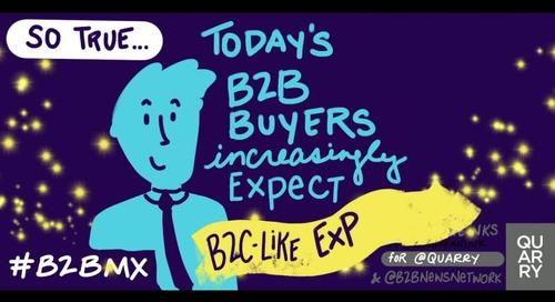 .@caseysteve from @forrester shares some #B2B buyer insight at #B2BMX (via @leeodden). #KeyNoteInks