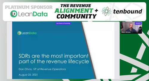 The SDR is the Most Critical Role in the Revenue Operations Organization