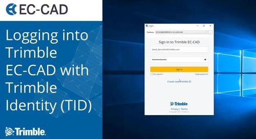 Logging into Trimble EC-CAD with Trimble Identity (TID)