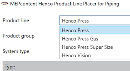 Henco - Easily draw Henco piping systems