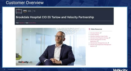 Velocity Technology - Taking Platform as a Service to the Next Level for Healthcare with CPaaS on AWS