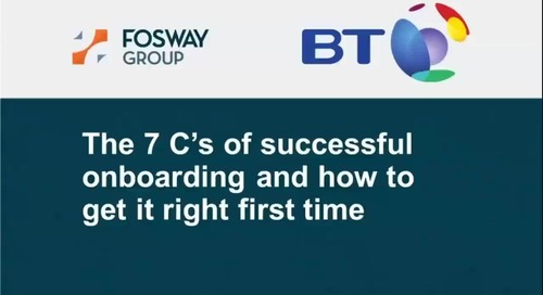 Webinar: How to get onboarding right: The 7 C's for success