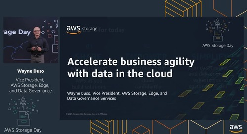 Keynote Session: Accelerate business agility with data in the cloud