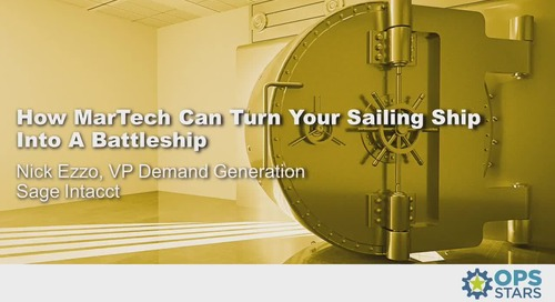 How MarTech Can Turn Your Sailing Ship Into a Battleship