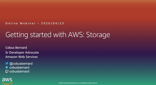 Getting Started on AWS Storage Webinar