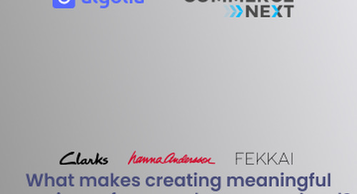 CommerceNext: What makes creating meaningful experience for your shoppers so hard?