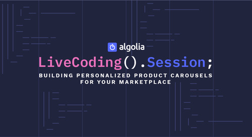 LiveCoding Session - Building personalized product carousels for your marketplace